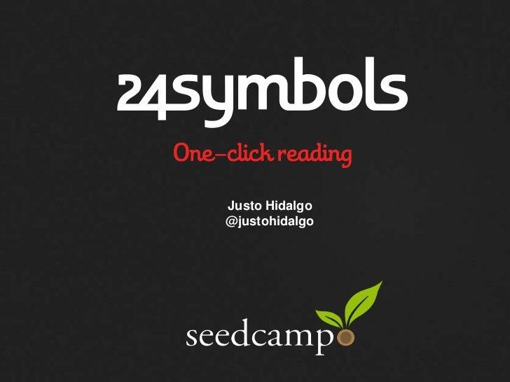 24symbols at Seedcamp Week 2012