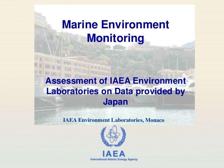 Fukushima Marine Environment Monitoring (1 April 2011, 14.30 UTC)