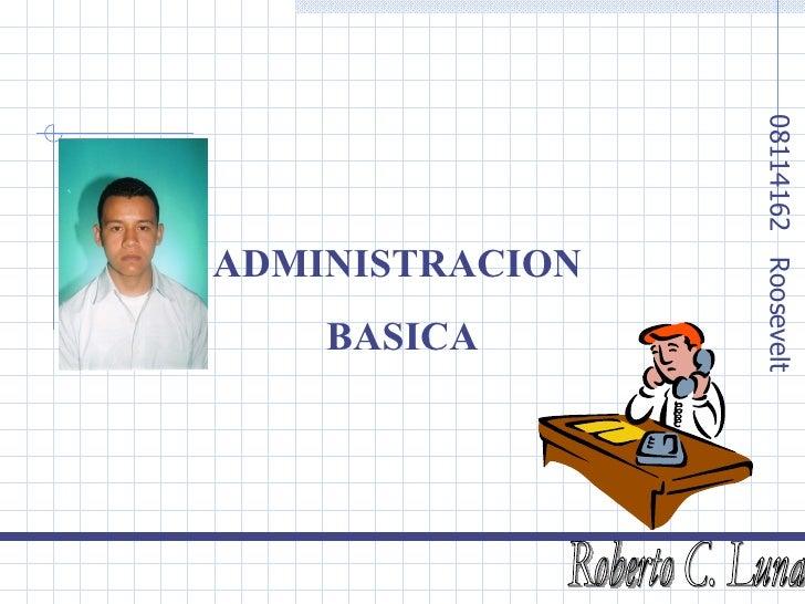 ADMINISTRACION  BASICA