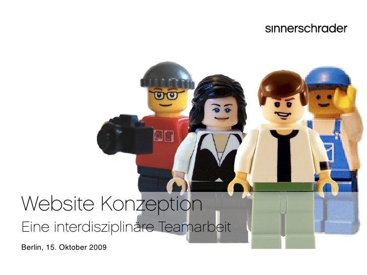 Website Konzeption - Eine interdisziplinäre Teamarbeit