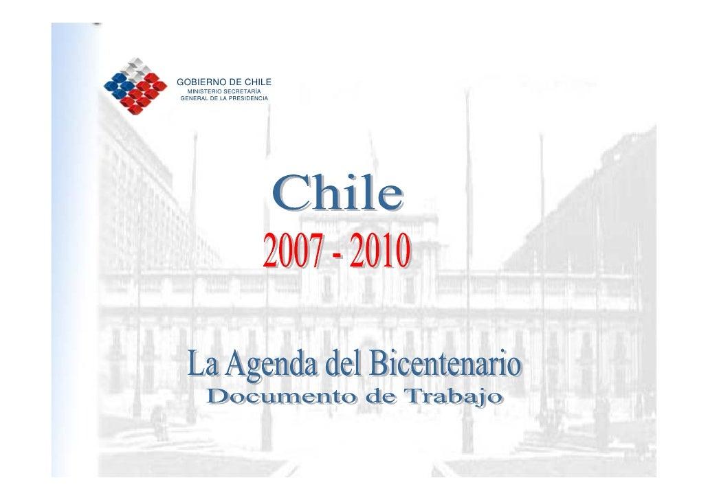 GOBIERNO DE CHILE       MINISTERIO SECRETARÍA     GENERAL DE LA PRESIDENCIA     1