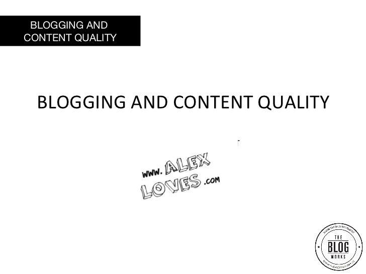 The Blog Works #1 Alexandra Vanthournhout