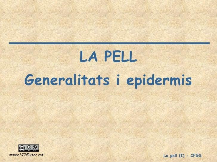 CFGS La pell - generalitats i epidermis