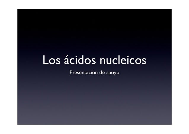 Los ácidos nucleicos Presentación de apoyo