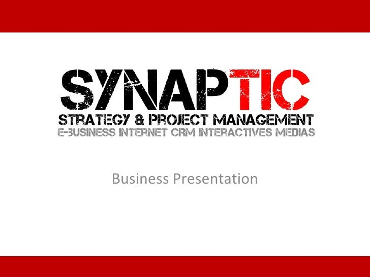 Business Presentation of Synaptic