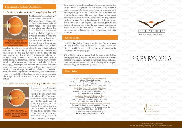 """In 2007, Dr. Julian Theng launched the first edition of """"A Long-Sighted Look at Presbyopia – Facts, Fiction and Hope"""" to a..."""
