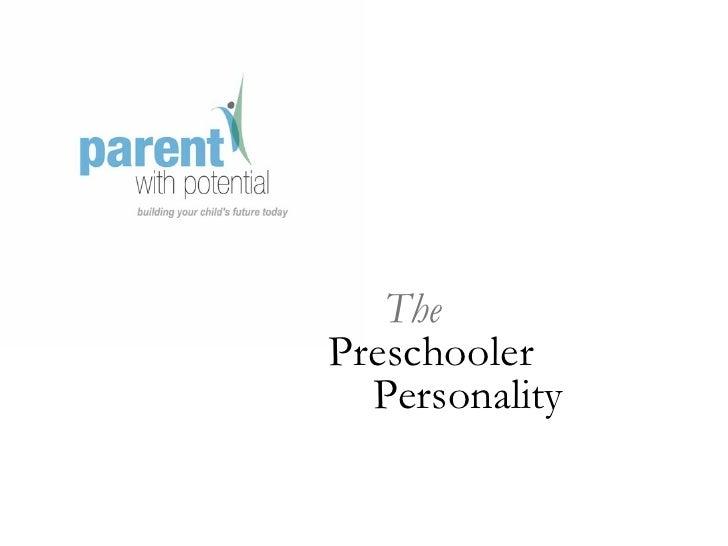 Preschooler Personality Intro