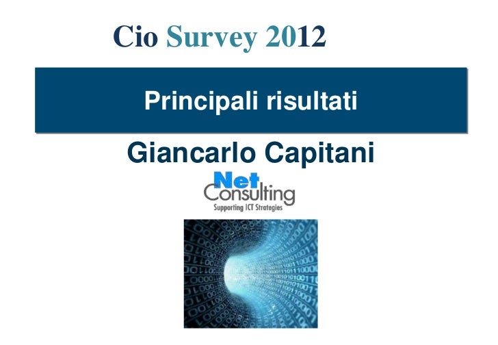 Pres cio survey 2012