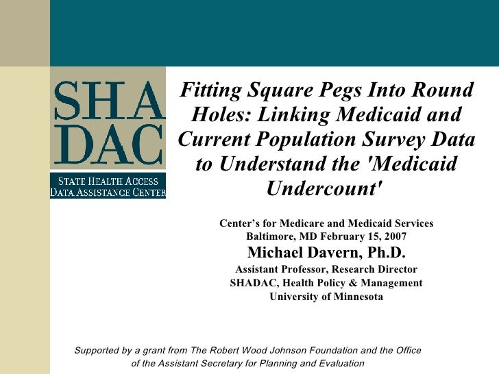 Fitting Square Pegs Into Round Holes: Linking Medicaid and Current Population Survey Data to Understand the 'Medicaid Unde...