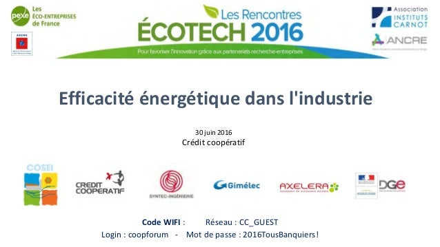 Rencontre efficacite energetique
