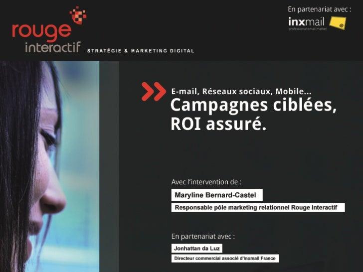 Campagnes ciblées, ROI assuré