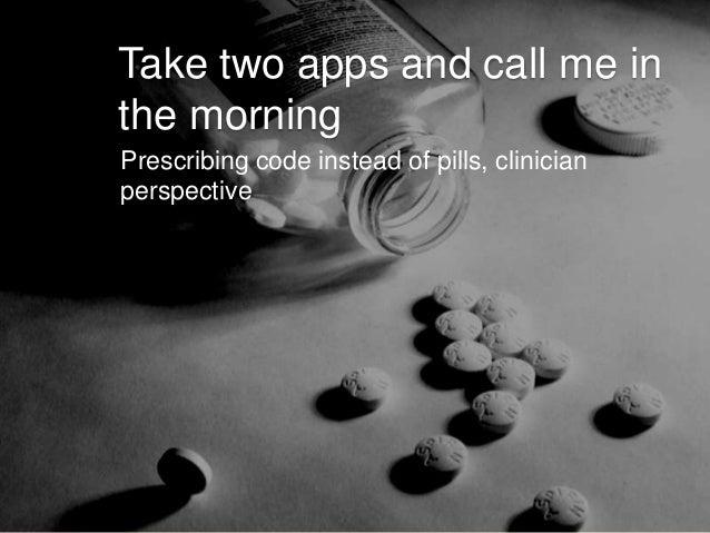 Prescribing an app