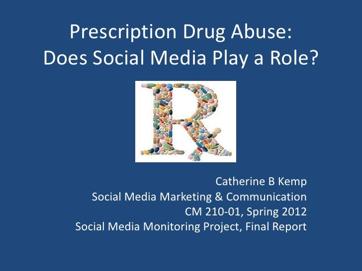 Prescription Drug Abuse: Does Social Media Play a Role?
