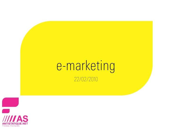 E-Marketing - Social Media