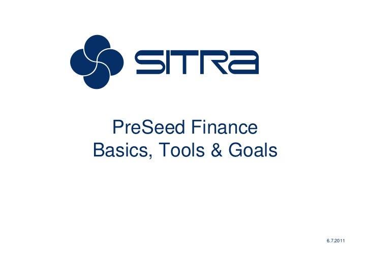 Pre seed finance