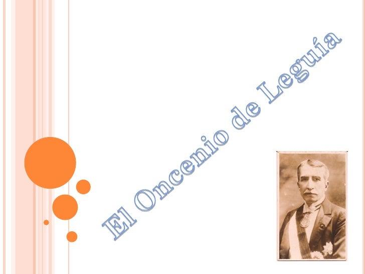 En 1919, Leguía   entra al poder;   en su régimen se                   PATRIA NUEVA   realizó   modernizaciones.          ...