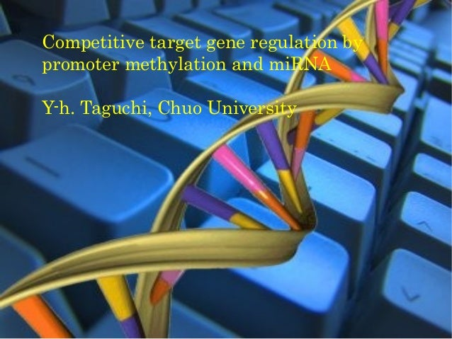 Competitive target gene regulation bypromoter methylation and miRNAY-h. Taguchi, Chuo University