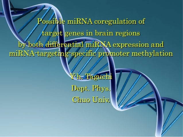 Possible miRNA coregulation of  target genes in brain regions  by both differential miRNA expression and miRNA-targeting-specific promoter methylation