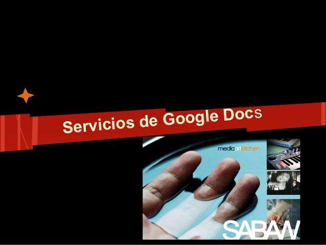 Servicios de Google Docs