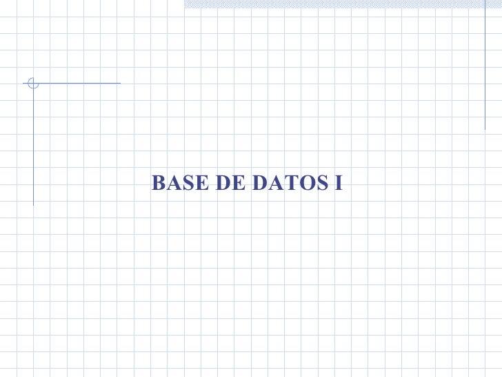 Presen Clases Bdd Unidad 3
