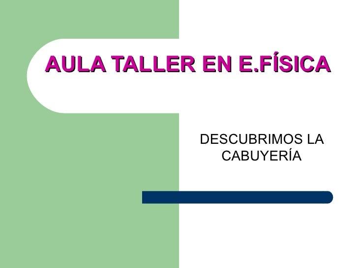 AULA TALLER EN E.FÍSICA DESCUBRIMOS LA CABUYERÍA
