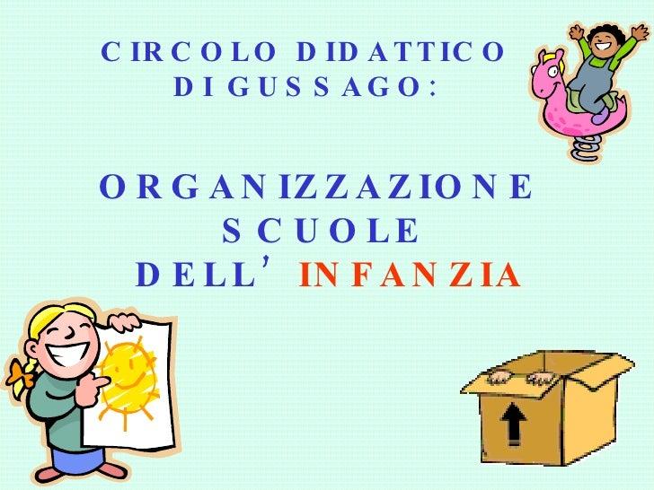 Organizzazione della Scuola dell'Infanzia
