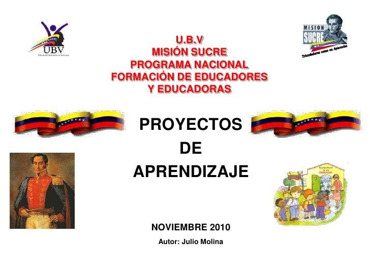 Proyecto PNFE Misión Sucre