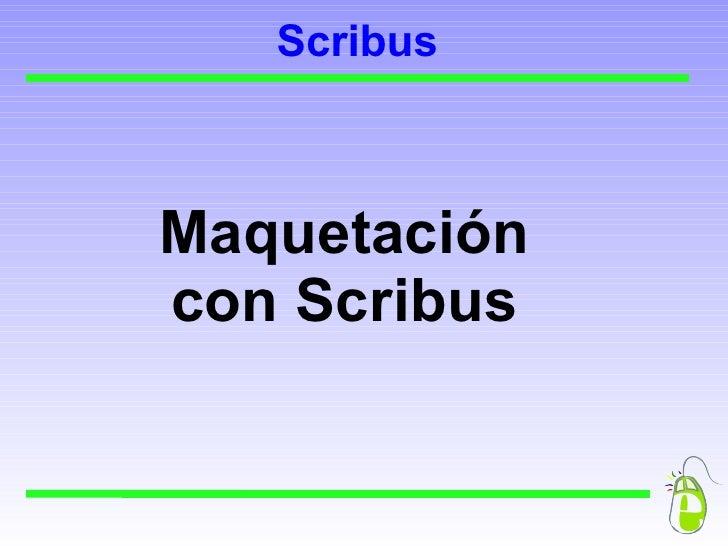 Presentación de Scribus