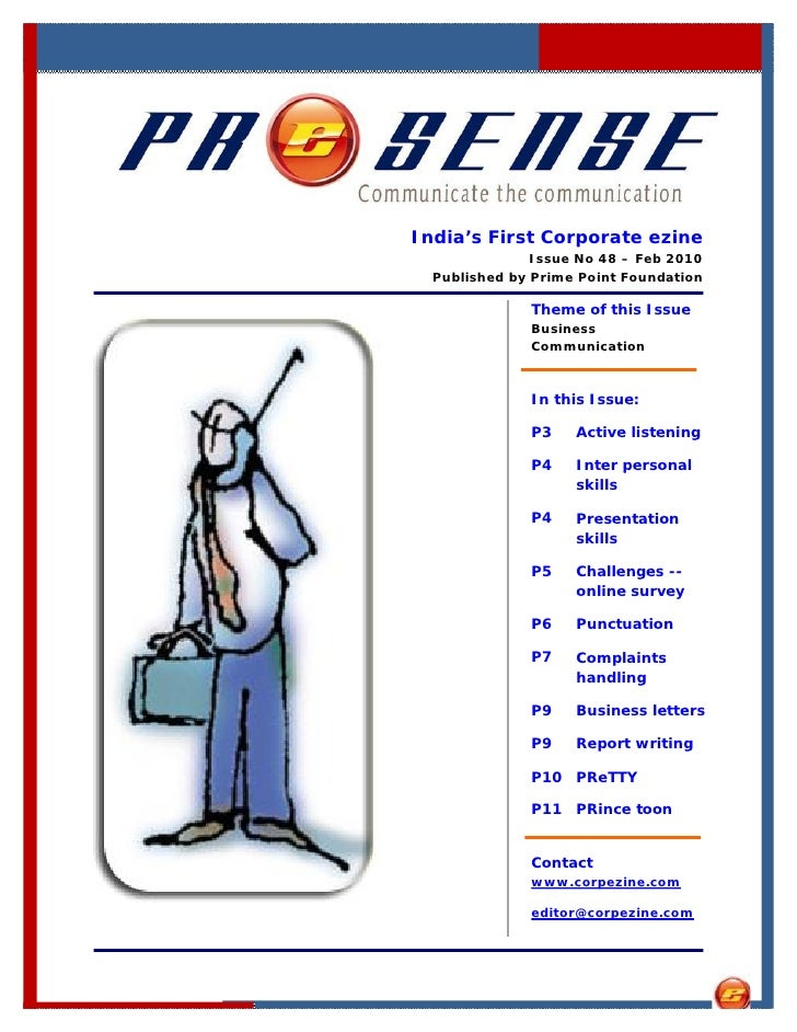 India's First Corporate ezine                Issue No 48 – Feb 2010   Published by Prime Point Foundation                T...