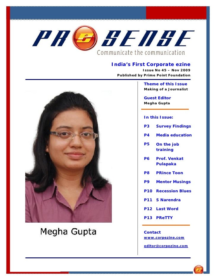India's First Corporate ezine               Issue No 45 – Nov 2009   Published by Prime Point Foundation                Th...