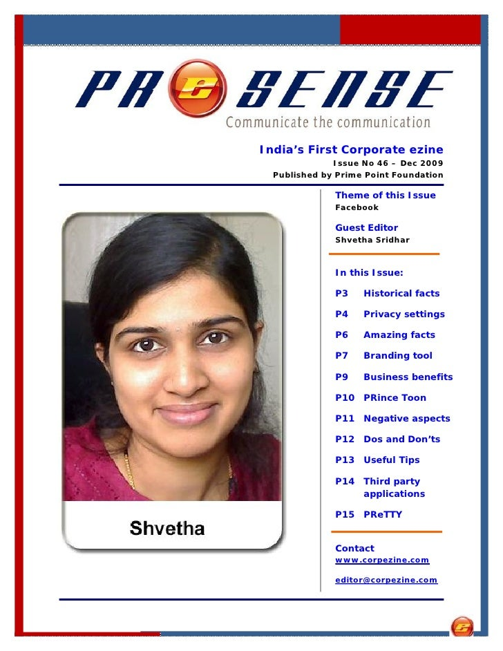 India's First Corporate ezine               Issue No 46 – Dec 2009   Published by Prime Point Foundation                Th...