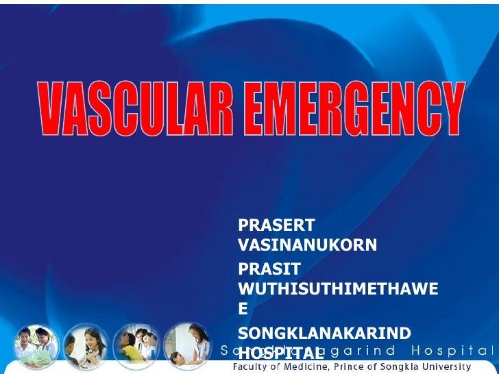 TAEM10:Vascular emergency