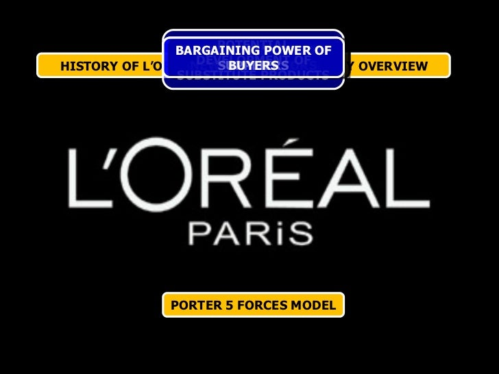porter five forces model for lancome L'oreal includes some important brands such as lancôme paris, garnier, mabelline, softsheen  porter's five forces analysis for l'oreal.