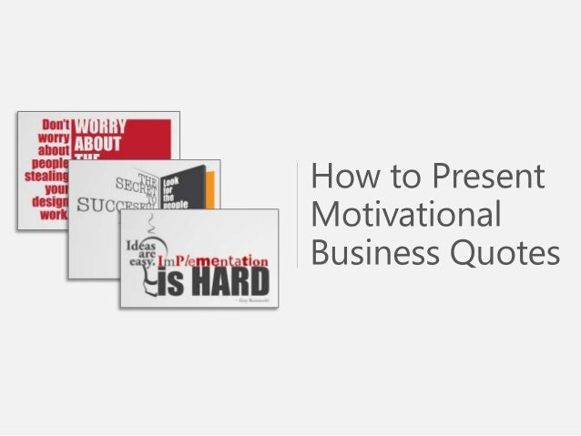 motivational business quotes powerpoint template