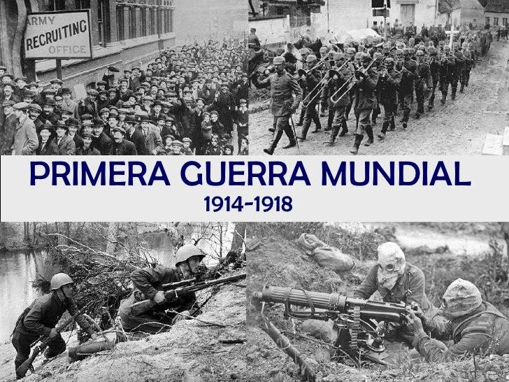 la primera guerra mundial y la segunda guerra mundial: