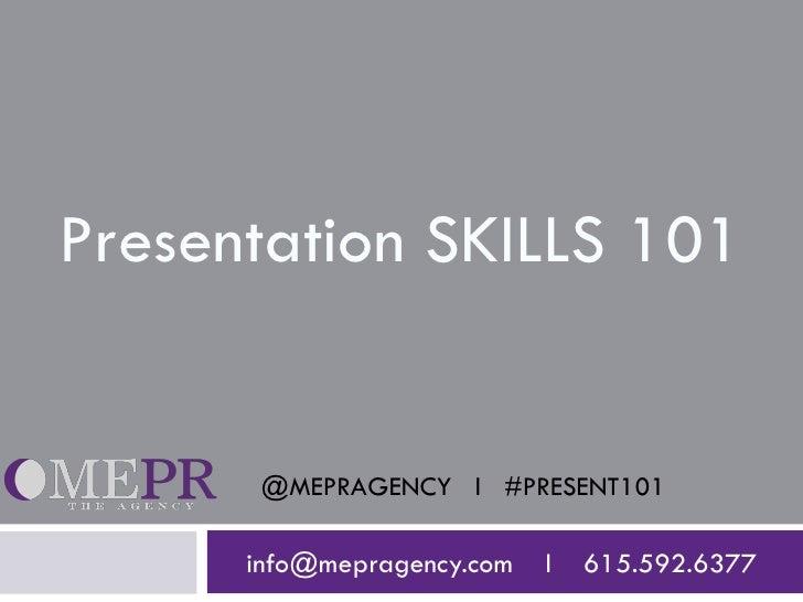 Presentation Skills 101