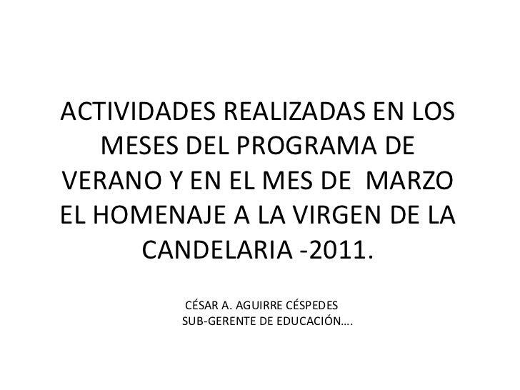 POR FAVOR SE SOLICITA QUE SE ACTUALIZE  LA PAGINA DEL PORTAL DE VILLA EL SALVADOR DE LAS ACTIVIDADES REALIZADAS EN LOS MES...