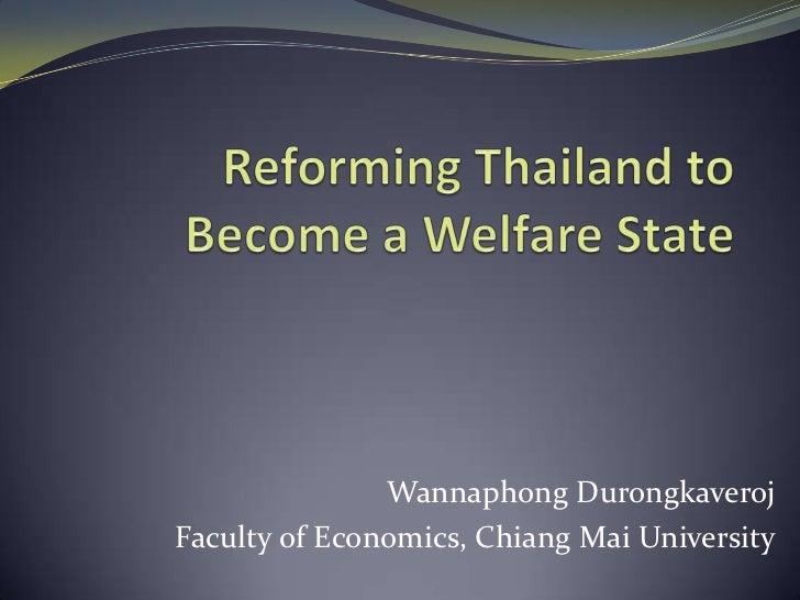 Wannaphong DurongkaverojFaculty of Economics, Chiang Mai University