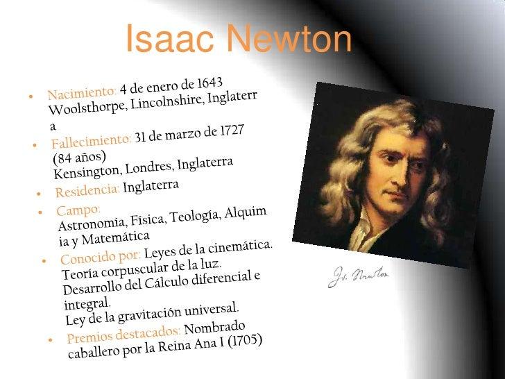 isaac newton diapositivas