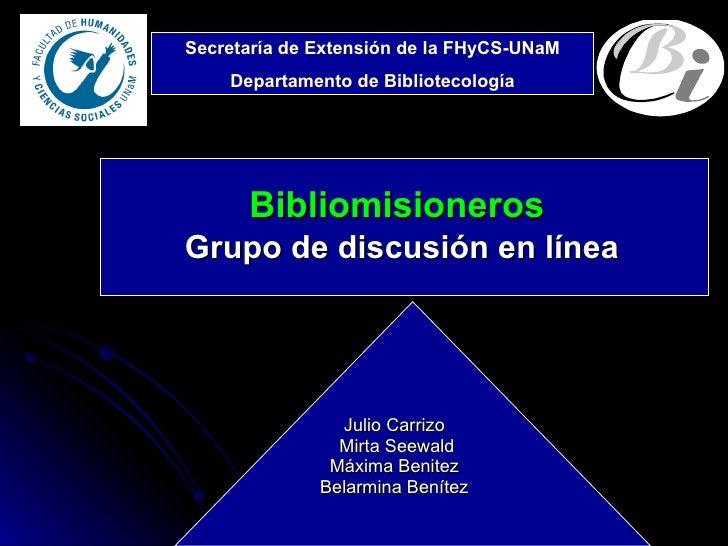 Presenta bibliomisioneros