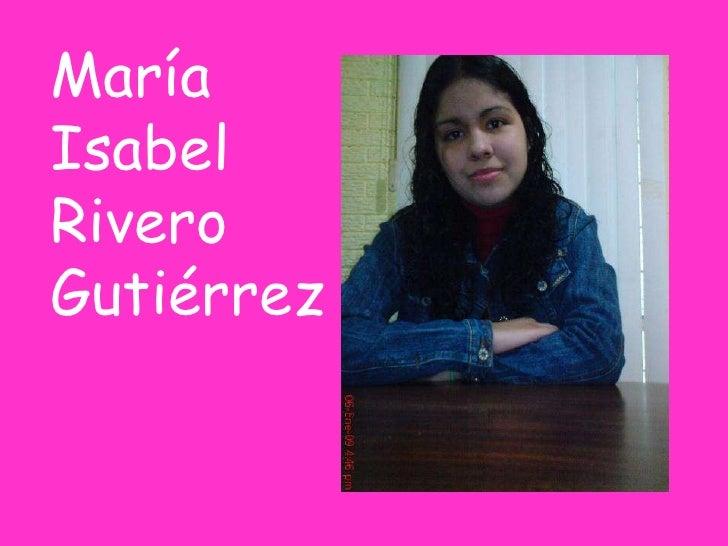 María Isabel Rivero Gutiérrez