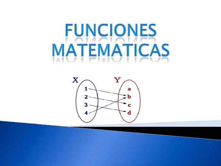 Funciones matematicas<br />