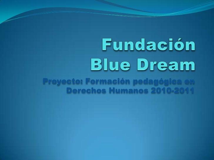 Presentación Progama de Formación en Derechos Humanos Blue Dream