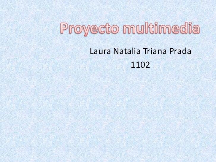 Proyecto multimedia<br />Laura Natalia Triana Prada <br />1102<br />