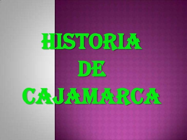 historia    deCajamarca