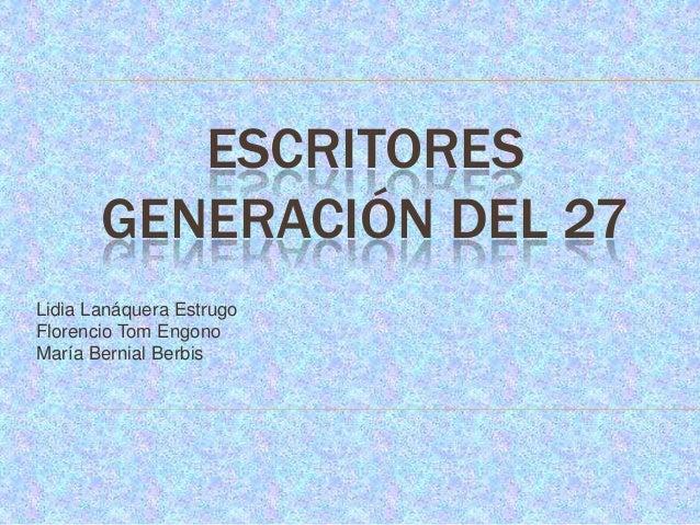 Escritores generación del 27