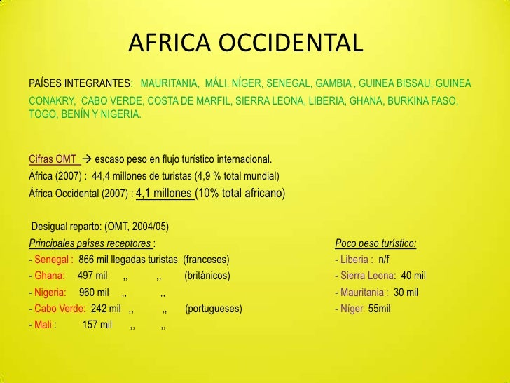 Turismo en Africa Occidental (PPoint)