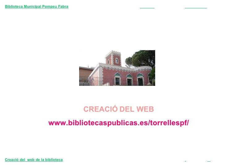 Presentació del web de la biblioteca