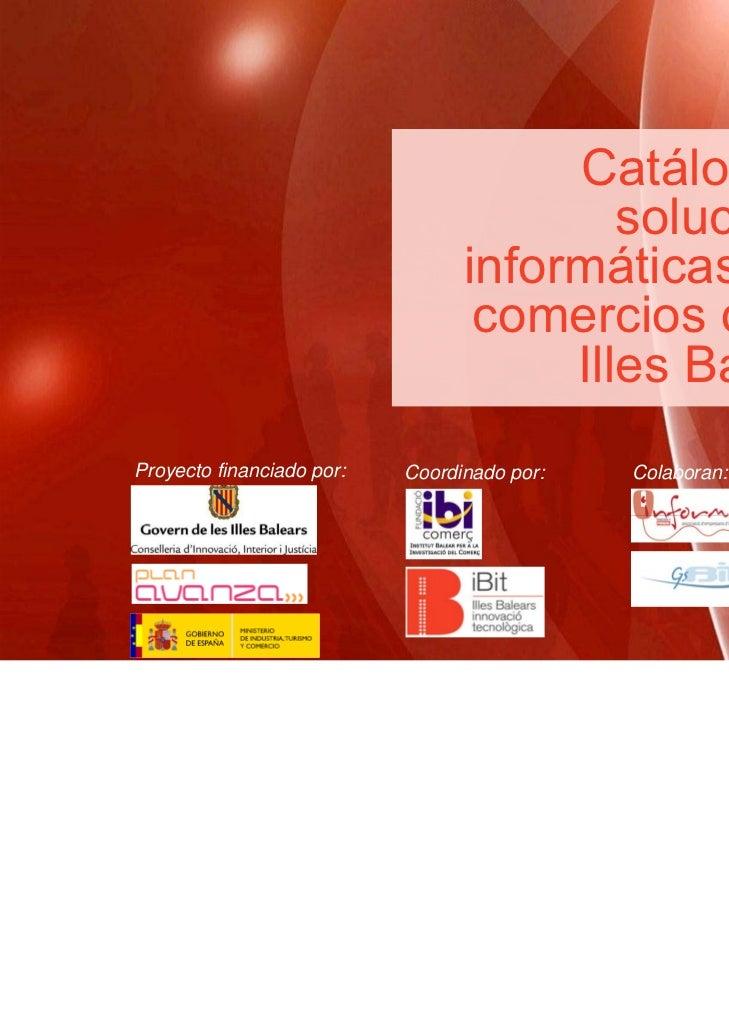 Catálogo de  soluciones  informáticas para  comercios de las Illes  Balears