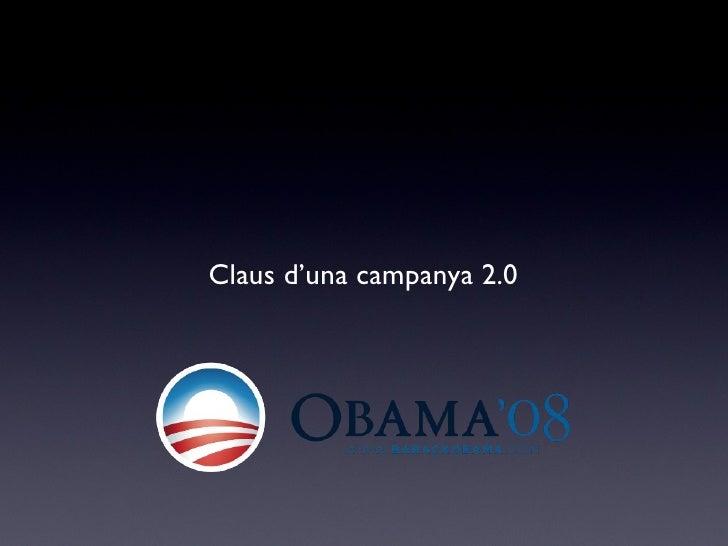 Claus d'una campanya 2.0